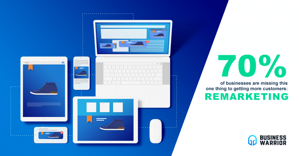 70% of businesses are not doing remarketing